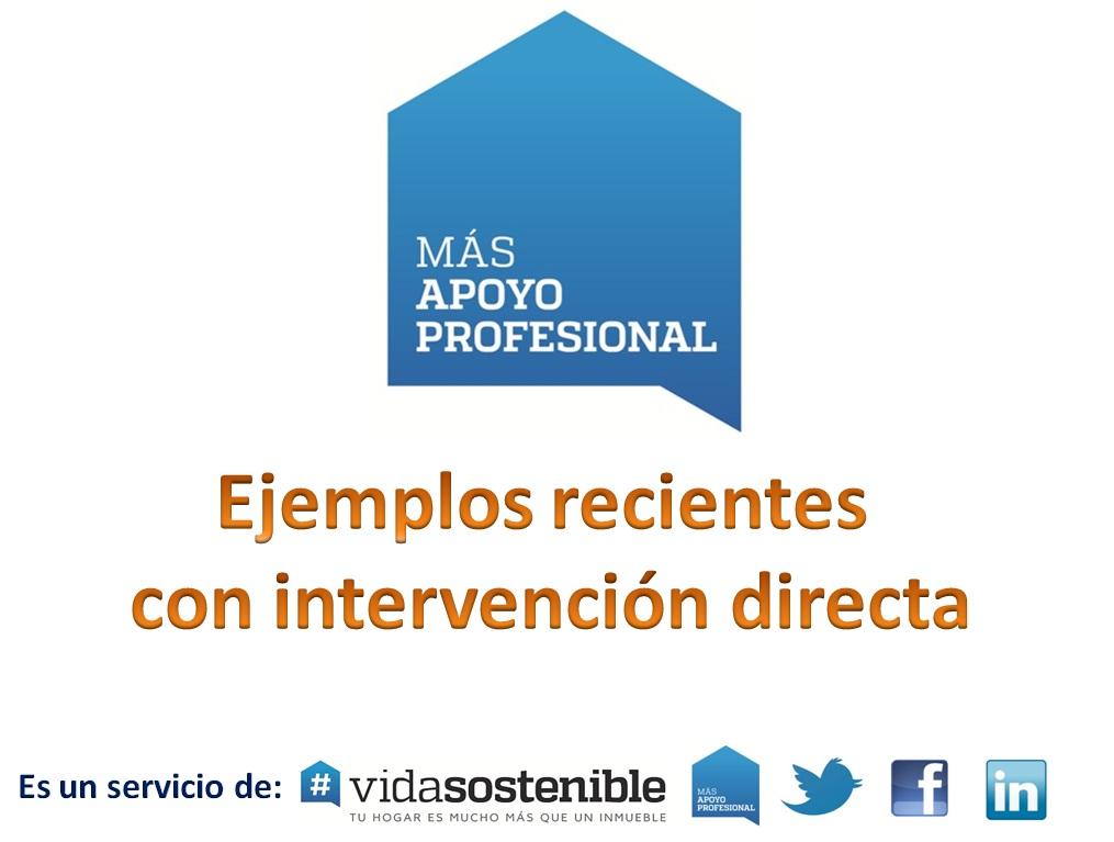 Ejemplos apoyo profesional con #vidasostenible