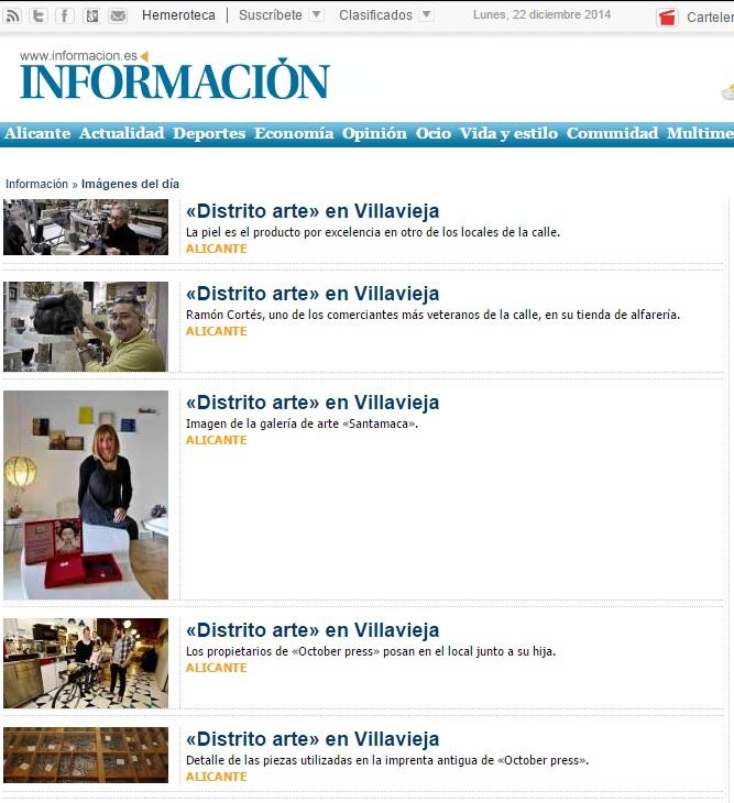 Información. Villavieja 4 comercios