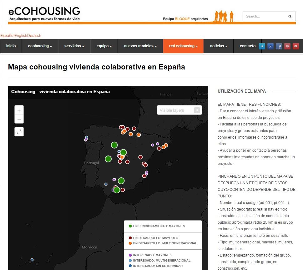 ecohousing. Mapa