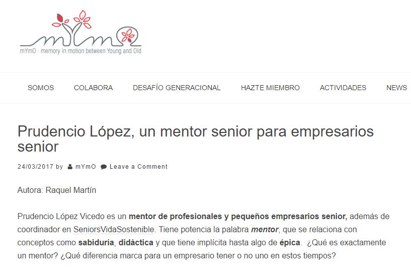 Un mentor sénior para empresarios seniors